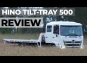 HINO TILT TRAY  ROAD TEST VIDEO  REVIEW
