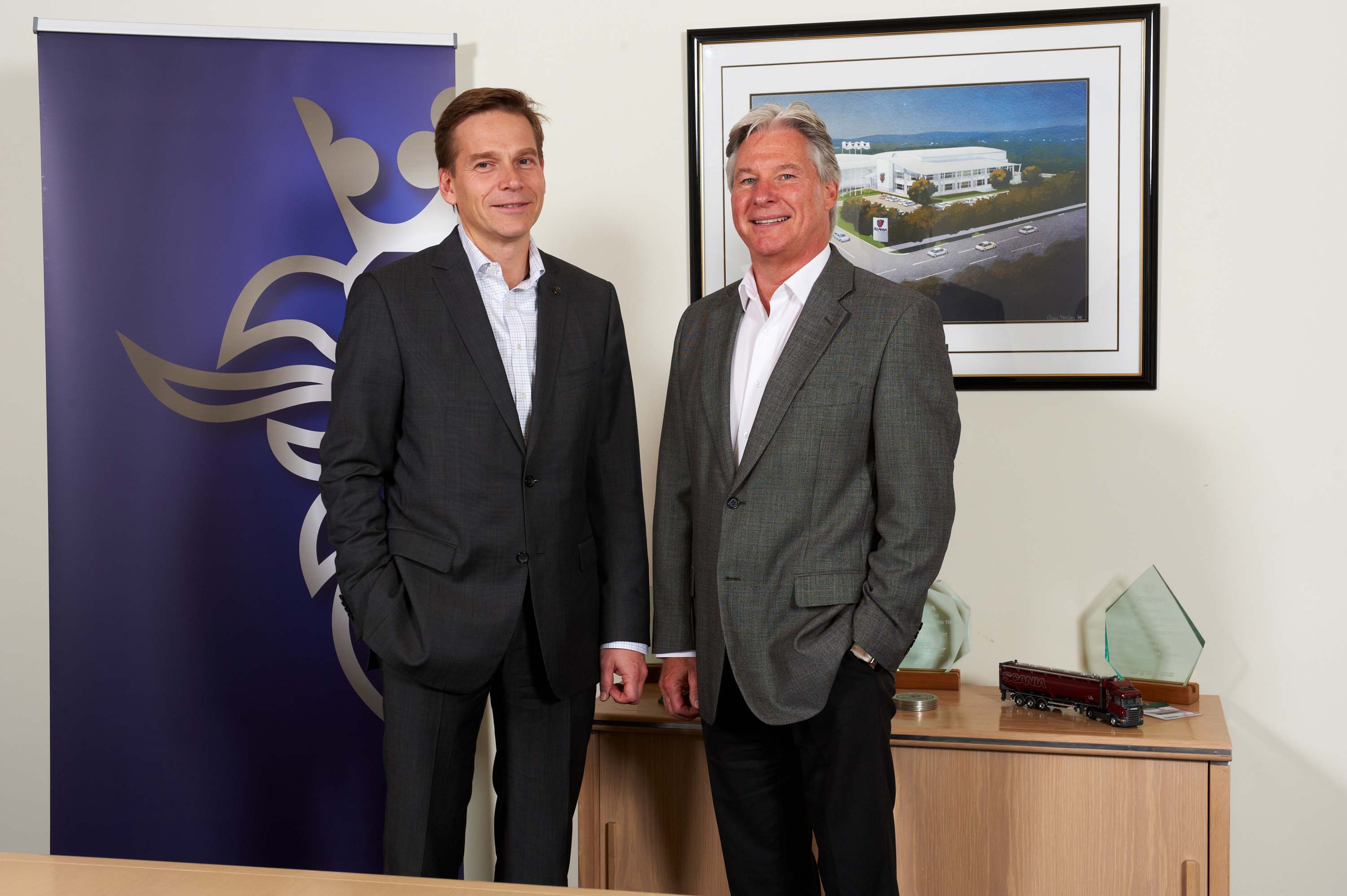christian levin  head of sales and marketing  scania cv and roger mccarthy