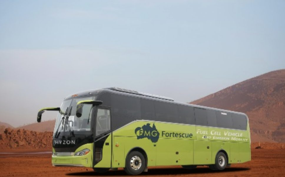 Hyzon HDrive Fortescue hydrogen coach
