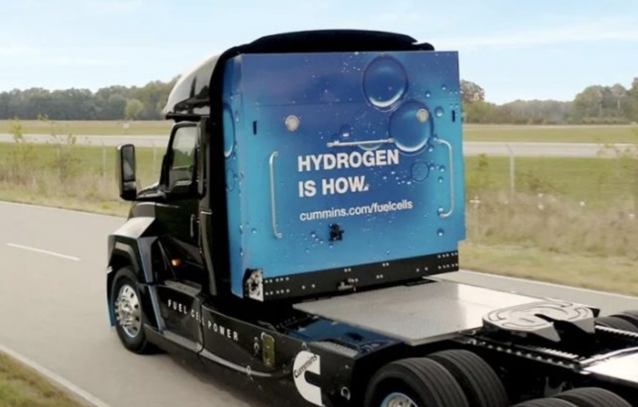 Cummins Chevron Hydrogen truck