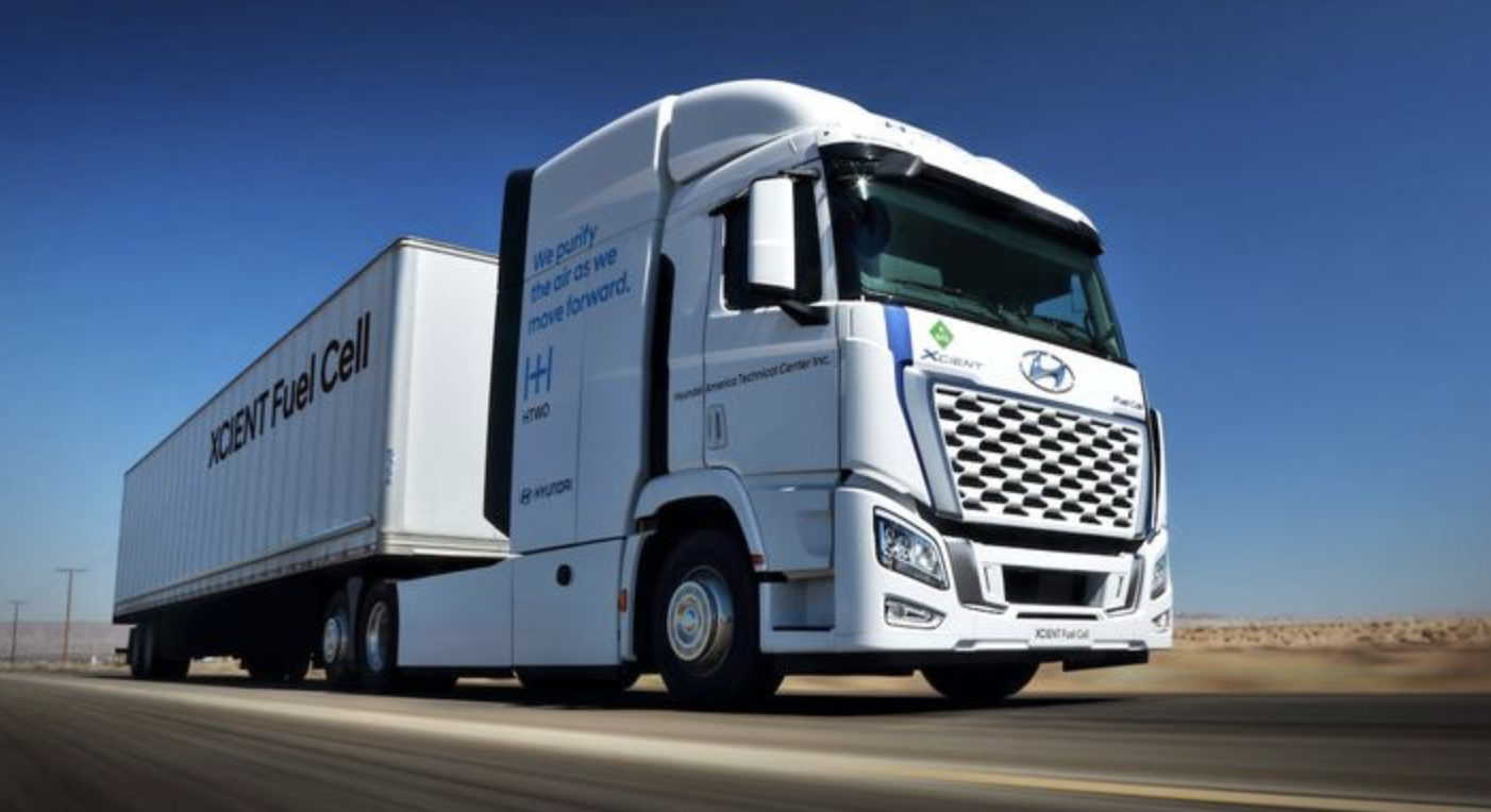 Hydrogen Hyundai Xcient fuel cell truck