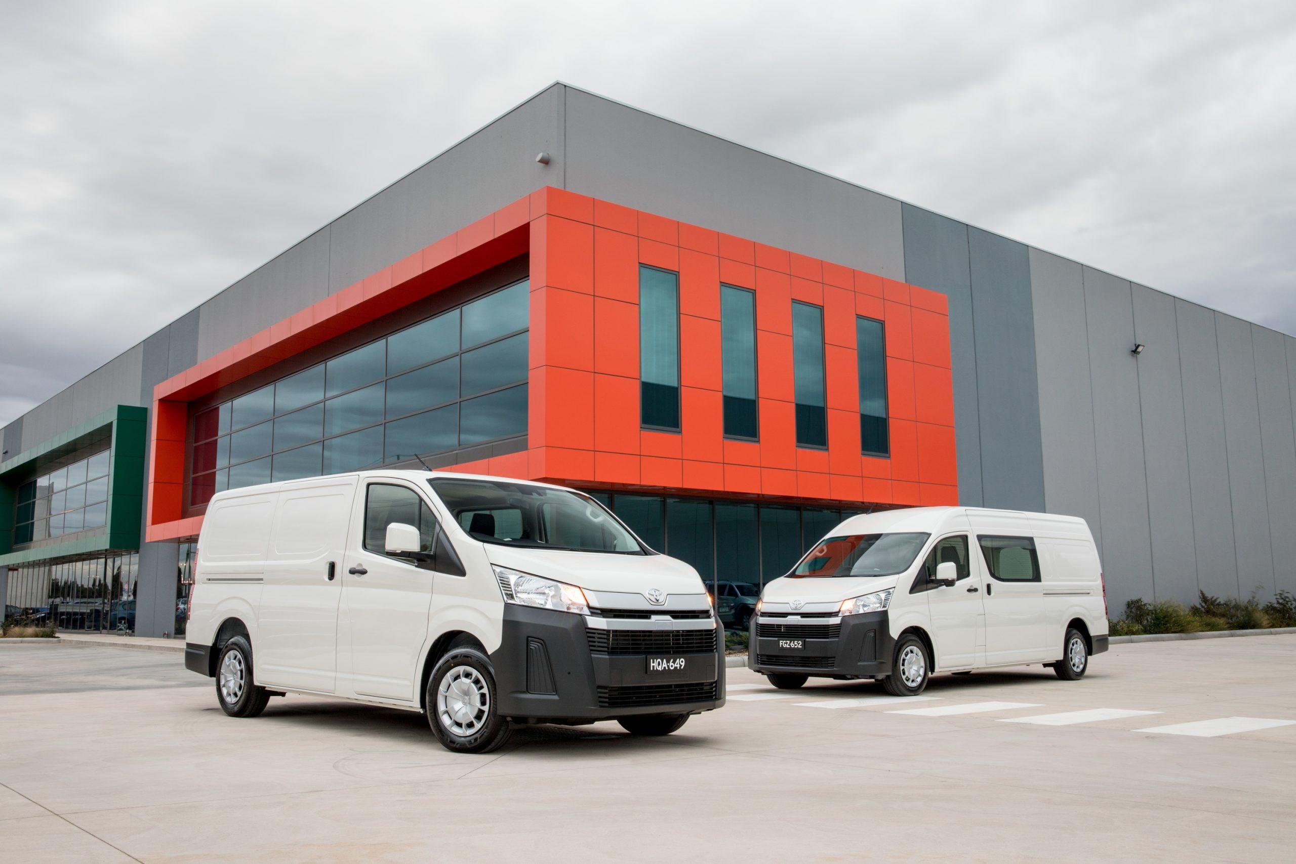 2019 Toyota HiAce  LWB Van (L) and SLWB Van (R).