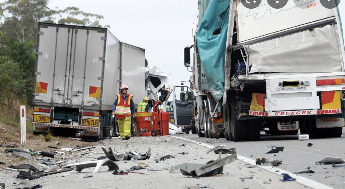 Truck crash pic 1